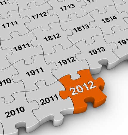 annual jigsaw pieces photo