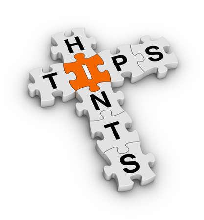 Tipps und Hinweise Puzzle-Symbol Standard-Bild - 12374285