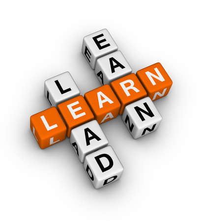 Lernen Sie zu führen und zu verdienen Kreuzworträtsel Standard-Bild - 12374328