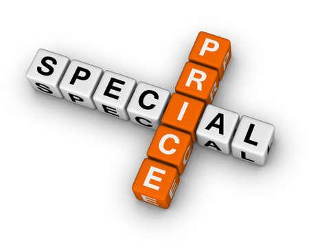 special price 3d crossword puzzle Stock Photo - 12374307