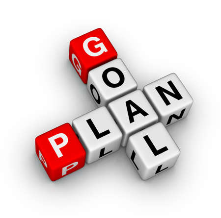 set goals: goal plan Stock Photo