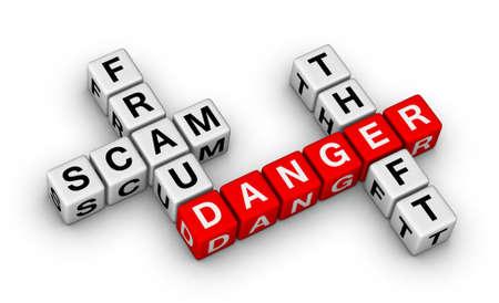 Computer-Kriminalität - Betrug, Betrug, Diebstahl Standard-Bild - 13607409