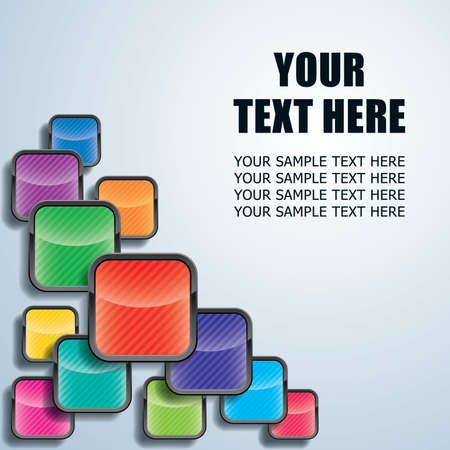 cover or title page design background with colorful rounded squares Vector