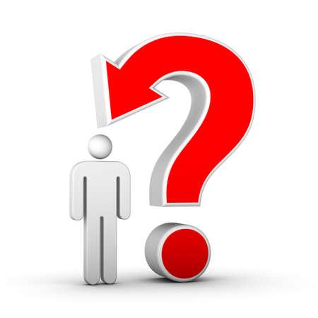 id: point d'interrogation avec la fl�che et l'homme