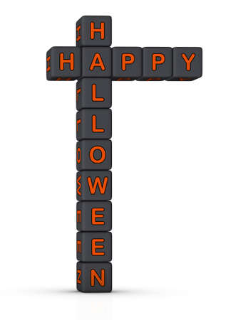 Happy Halloween design element for greeting card photo