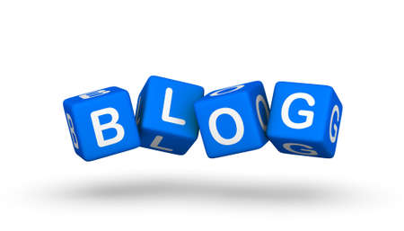 microblogging: blog symbol Stock Photo