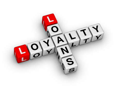 loans and loyalty crossword puzzle Stock Photo - 16924435