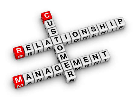 customer service icon: customer relationship management (CRM) crossword puzzle
