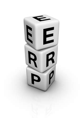 Enterprise Resource Planning System (ERP) symbol Stock Photo - 16924440