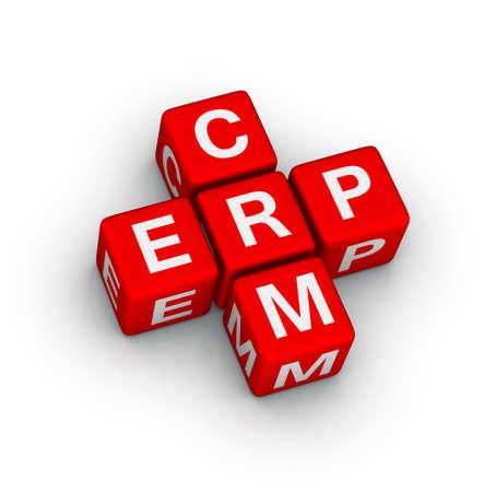 Enterprise Resource Planning (ERP) e Customer Relationship Management (CRM) cruciverba Archivio Fotografico - 16924475
