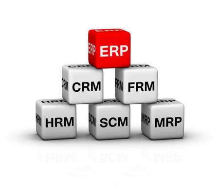 ERP (Enterprise Resource Planning)-systeem illustratie