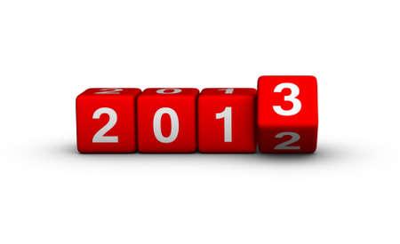 twenty thirteen: Happy New Year 2013 cubes sign