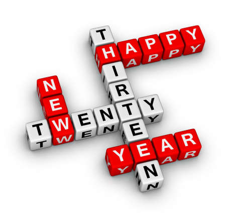 Happy New Year 2013 cubes sign photo