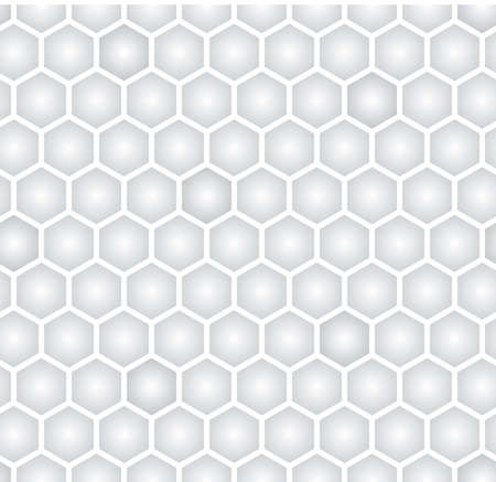 light gray hexagonal seamless pattern Stock Vector - 18677903