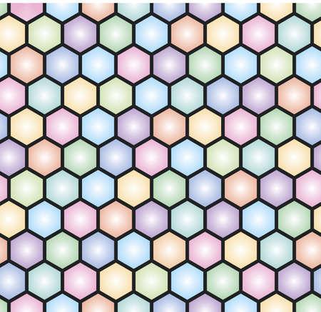 colorful hexagonal seamless mosaic pattern Stock Vector - 18677895