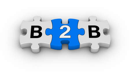 two piece: business to business jigsaw puzzle symbol