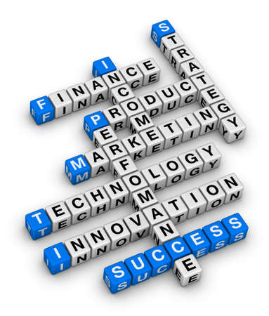 word game: business palnning 3d crossword puzzle