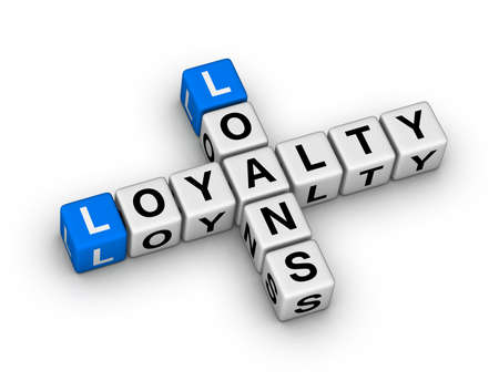 loans and loyalty crossword puzzle Stock Photo - 22345326