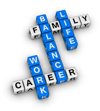 work and life balance crossword puzzle Standard-Bild