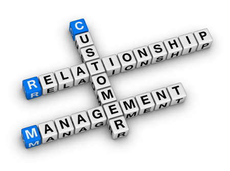 customer relationship management (CRM) crossword puzzle Stock Photo - 22345331