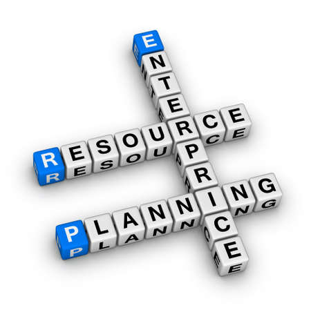 Enterprise Resource Planning (ERP) crossword puzzle Stock Photo - 22345329