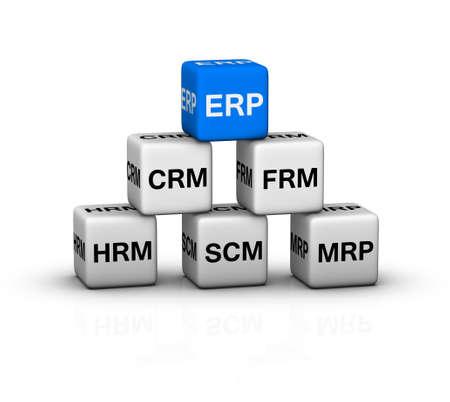 ERP (Enterprise Resource Planning) System illustration