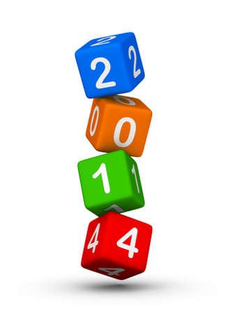 새로운 년 2014 디자인 요소