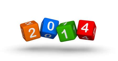 新年 2014年設計要素 写真素材