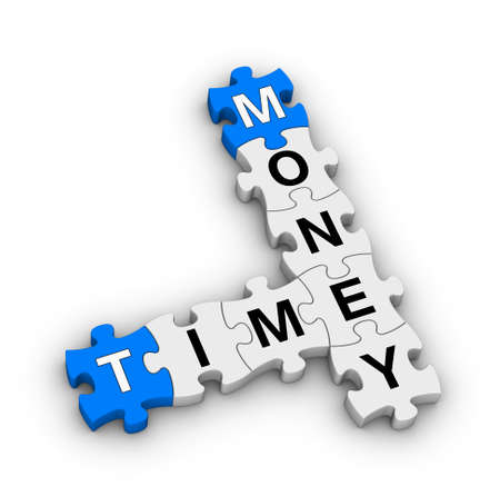 time is money jigsaw puzzle Stock Photo - 22345359