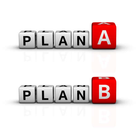 plan A and B icon (red-white crossword series) photo