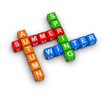 four seasons multicolor crossword puzzle photo