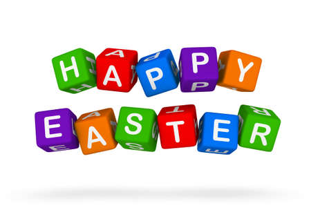easter sign: happy easter sign Stock Photo