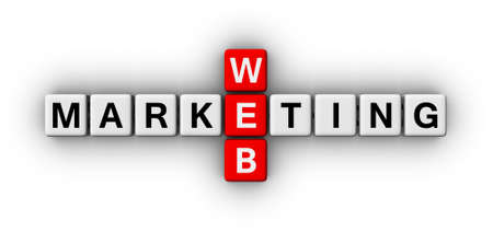 emarketing: web marketing crossword puzzle sign Stock Photo