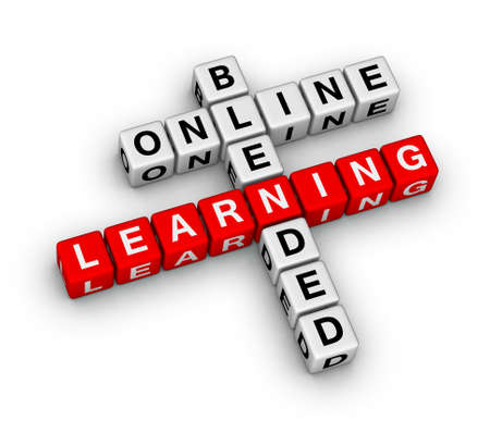 blended: online blended learning crossword puzzle