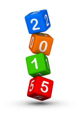 2015 year cubes symbol colorful photo