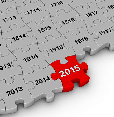 2015 year time passing jigsaw puzzle photo