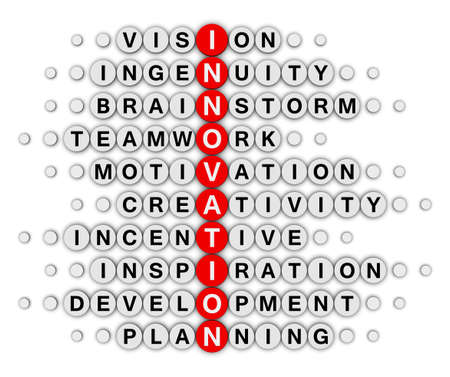 innovation concept crossword puzzle photo