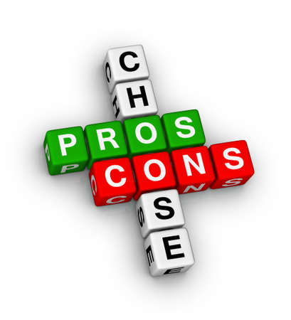 pros and cons compare crossword puzzle photo