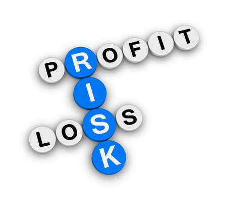 perdidas y ganancias: beneficio riesgo crucigrama pérdida