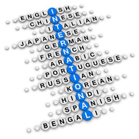 international crossword puzzle photo