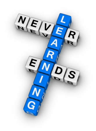 learning never ends crossword puzzle photo
