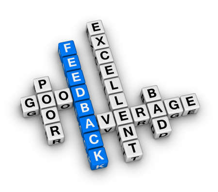 feedback form cubes crossword puzzle Stock Photo - 28225222