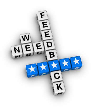 we want feedback crossword puzzle Stock Photo - 28650574