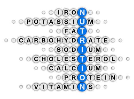 nutrition facts concept crossword puzzle photo