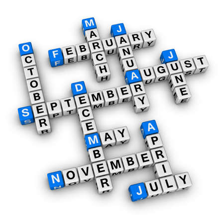 months of the year: months of the year crossword puzzle