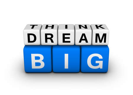 dream job: big think big dream symbol Stock Photo