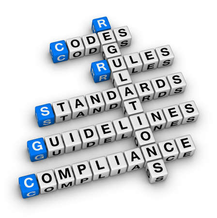 compliance crossword puzzle Stock Photo