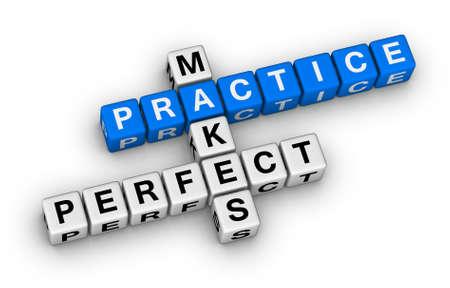 練習は完璧なクロスワード パズルを作る