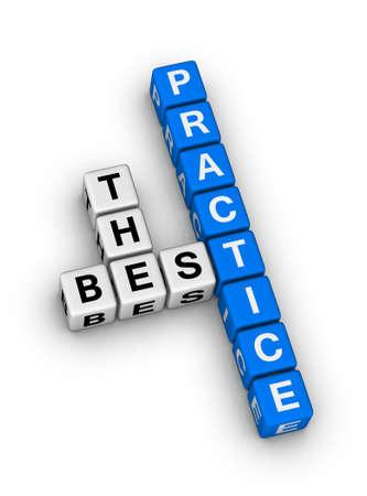 the best practice crossword puzzle Stock Photo