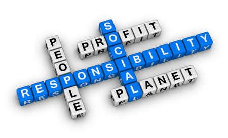 사회적 책임 크로스 워드 퍼즐 스톡 콘텐츠
